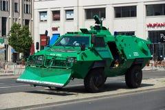 Police cordon near the Potsdamer Platz Royalty Free Stock Images