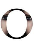Police créative de mode de fille de maquillage de beauté de lettre d'O Photo stock