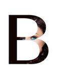 Police créative de mode de fille de maquillage de beauté de lettre de B Photos libres de droits