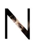 Police créative de mode de fille de maquillage de beauté de lettre de N Image libre de droits