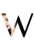 Police créative de mode de fille de maquillage de beauté de lettre de W Photographie stock libre de droits