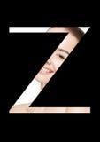 Police créative de mode de fille de maquillage de beauté de lettre de Z Image libre de droits
