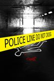 Police crime scene Royalty Free Stock Photos