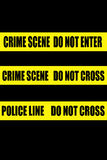 Police crime scene tape Stock Image