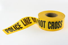 Police Crime Scene Tape Stock Photography