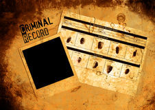 Police Criminal Record File. Grungy Blank Police Criminal Record File & Photo Stock Image