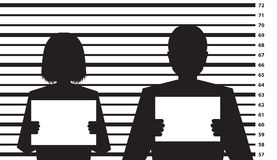 Police criminal record template Royalty Free Stock Photo