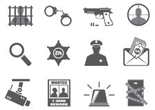 Police and criminality Royalty Free Stock Photography