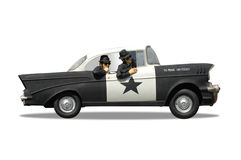 Police Cruiser Stock Image