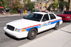 Police cruiser. City of Calgary police cruiser outside Courthouse Royalty Free Stock Image