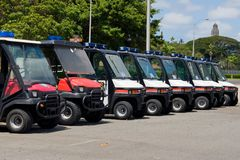 Police Cushman Stock Photo