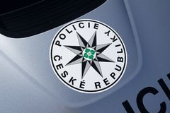 Police of Czech Republic / Czechia. Emblem of Police of Czech Republic / Czechia. Public service and agency for protection against criminality and criminals royalty free stock photography