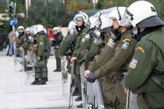 Police d'émeute Images libres de droits
