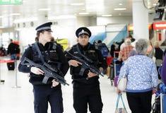 Police d'aéroport Photos stock