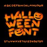 Police d'alphabet de Halloween Lettres et nombres de traçage illustration de vecteur
