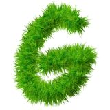 Police d'herbe verte, d'eco ou d'écologie Image libre de droits