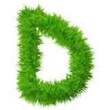 Police d'herbe verte, d'eco ou d'écologie Images libres de droits