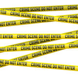 Police danger tape Stock Photography