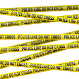 Police danger tape Royalty Free Stock Images