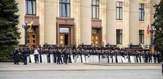 Police dans la place à Kharkiv Photographie stock libre de droits