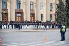 Police dans la place à Kharkiv Image stock