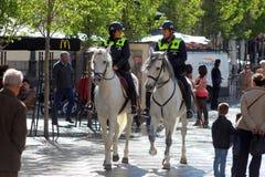 Police de cheval de Madrid Photos libres de droits