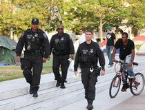 Police de CSAD à la plaza de liberté, C.C Photographie stock