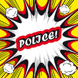 Police de fond de bande dessinée ! estampille de bureau d'art de bruit de carte de signe   Photographie stock libre de droits