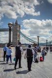 Police de Londres sur la patrouille Image stock