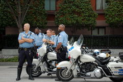 Police de moto, Washington DC Photo stock