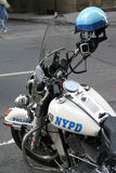 Police de New York de cycle de Moter Photos stock