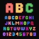Police de pixel illustration libre de droits