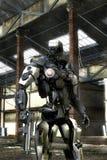 Police de robot illustration stock