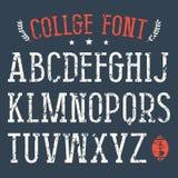 Police de Serif dans le style d'université illustration de vecteur