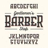 Police de style de vintage de Gentlemans Barber Shop Images libres de droits