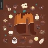 Police de tentation de dessert illustration libre de droits
