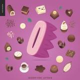Police de tentation de dessert illustration stock