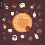 Police de tentation de dessert illustration de vecteur