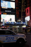 Police de Time Square Photographie stock libre de droits