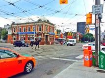 Police de Toronto sur un cheval photos stock