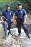 Police de touristes au Salvador Photo libre de droits