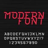 Police de vecteur futuriste dynamique d'alphabet illustration stock