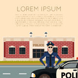 Police department banner5. Vector image of the Police Department Banner Stock Images