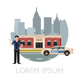 Police department banner10. Vector image of the Police Department Banner Royalty Free Stock Photo