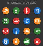 Police department 16 flat icons. Police department vector icons for web and user interface design vector illustration