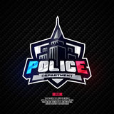 Police department logo. Royalty Free Stock Photography