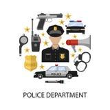 Police Department Round Design Stock Photos