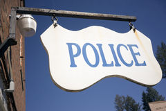 Police Department Sign Small Rural Town America Royalty Free Stock Photo