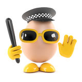 police des oeufs 3d Photo stock