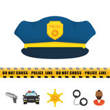 Police design. Stock Photography